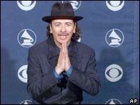 US Rock Guitarist Carlos Santana
