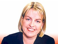 BBC News 24 presenter Maxine Mawhinney