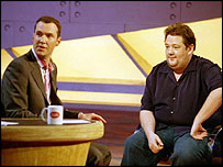 Johnny Vaughan (l) and Johnny Vegas