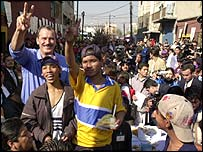 President Fox with street children in Mexico