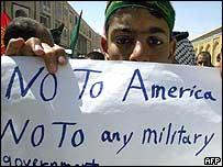Anti-US protester in Karbala