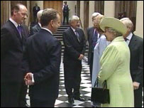 The Queen arives at Holyrood