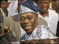 Nigerian President Olusegun Obasanjo