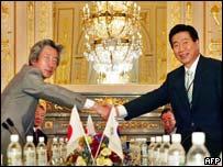 Junichiro Koizumi and Roh Moo-hyun