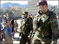 German Isaf soldier in Kabul