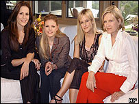 (L to r): Emily Robison, Natalie Maines and Martie Maguire with interviewer Diane Sawyer