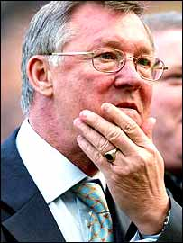 Alex Ferguson scratches his chin