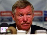 Sir Alex Ferguson faces the press