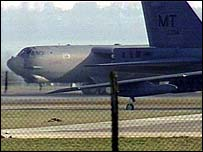B-52 bomber at RAF Fairford in Gloucestershire