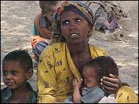 Ethiopian villagers at risk from hunger