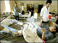 War wounded being treated in Basra hospital
