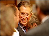 Prince Charles at the TA centre