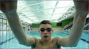 Swimmer David Davies