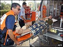 Israeli being taken to hospital