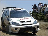 Markko Martin and British co-driver Michael Park in action in Greece