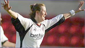 Marieanne in action for Fulham Ladies
