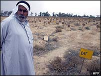 The al-Qarah cemetery, thought to contain about 1,000 unnamed graves holding political prisoners from the Abu Ghraib prison