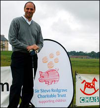 Sir Steve Redgrave at St Andrews Bay
