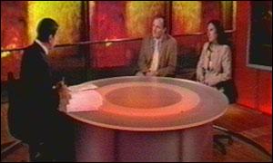 Jon Sopel with Charles and Diana Ingram