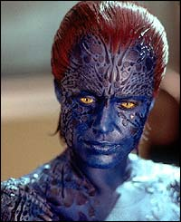 Rebecca Romijn-Stamos is unrecognisable as Mystique