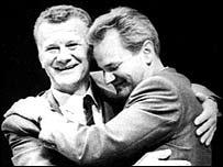 Ivan Stambolic and Slobodan Milosevic