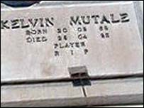 Kelvin Mutale's grave