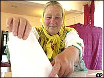 Polish woman voting