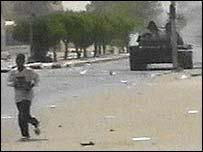 Tank on Nouakchott street