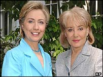 Hillary Clinton with Barbara Walters
