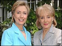 Hillary Clinton with Barbara Walters