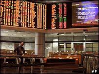 A deserted Malaysian stock board