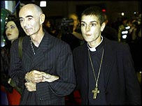 Sinead O'Connor with friend BP Fallon in 1999