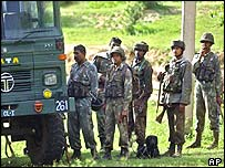 Indian army soldiers north of Jammu