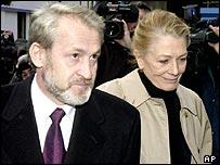 Vanessa Redgrave and Akhmed Zakaev, a senior Chechen envoy