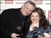 Marrisa Jaret Winokur and Harvey Fierstein