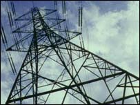 Electricity pylon, BBC