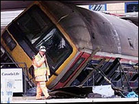 Derailed carriage