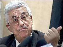 Palestinian Prime Minister Mahmoud Abbas, also known as Abu Mazen
