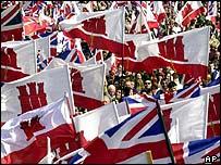 Gibraltar pro-UK protest