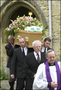 Terry Lloyd's coffin