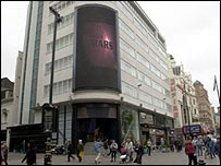Former Home nightclub building in Leicester Square