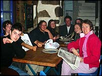 Group visiting Patagonia