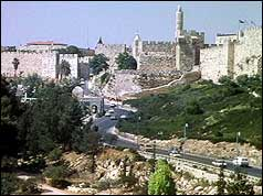 The walls of Jerusalem old town