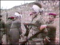 Still from video of Iraqis being executed (Archive)