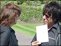 Chrissie Hynde and Jeff Beck