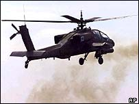 US Apache helicopter (file photo)