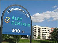 Stockholm suburb of Alby