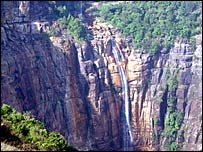 Waterfalls at Nokalikai (Picture courtesy Eastern Projections)