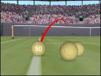 Hawk-Eye tracks the trajectory of the ball