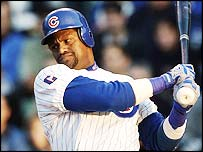 Sammy Sosa takes a swing